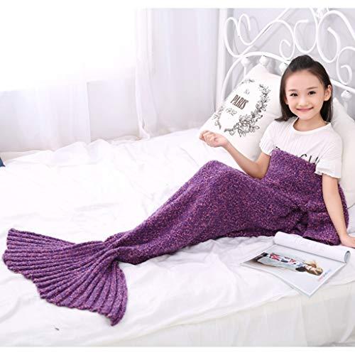 Couverture en queue de sirène pour adultes en tricot, Comfy Soft pour femmes, adolescents et filles, couvertures de crotchet pour le sac de couchage pour enfants, Seatail