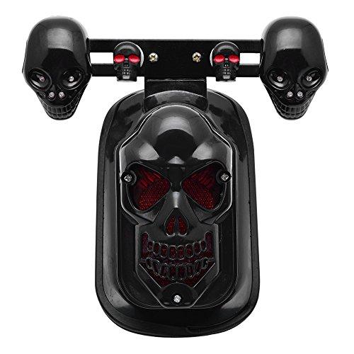 Price comparison product image Black Skull Integrated Brake Stop Tail Turn Signal Blinker Indicator Light For Motorcycle Harley Sportster Dyna Glide Custom Bobber Chopper Cruiser
