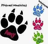 A&D design Deutschland ***NEU*** Hunde Pfote mit Ihrem Wunschtext (freie Farb.- und Größenauswahl) (10cm)