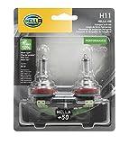 HELLA H11P50TB Twin Blister +50 Performance Bulb, 12V, 55W, 2 Pack
