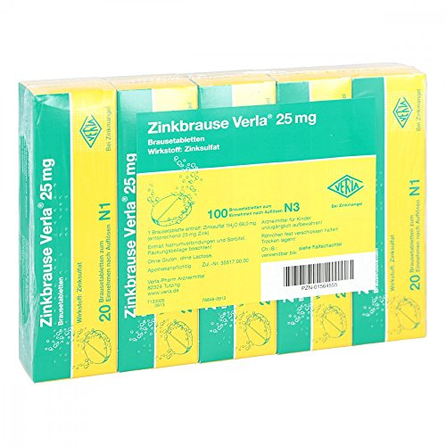 Zinkbrause Verla 25 mg, 100 St. Brausetabletten