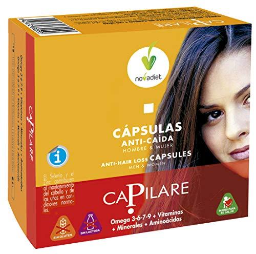 Capilare Anti-Hair Loss Capsules with Omega 3-6-7-9 + Vitamins + Amino Acids - 60 Soft Gel Capsules