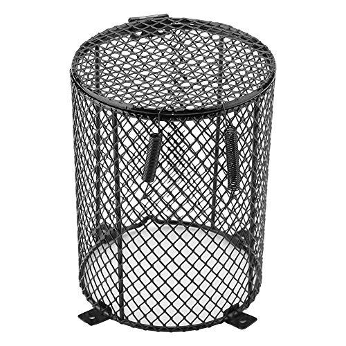 Fdit lampafdekking, bescherming tegen verbranding, voor huisdieren, reptielen, ronde lampenkap, vierkant, voor dag en nacht, keramiek, Rond