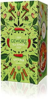 Spicebar Gewürz-Adventskalender 2021-24 hocharomatische Bio-Gewürze & 24 passende Rezeptideen von schnell & einfach bis raffiniert - inkl. Rezept-Sammelbox - ideales Geschenk für Männer und Frauen