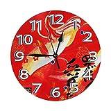 インテリア 掛け時計 めでたい人生 愛したい今 壁掛け時計 丸い 飾る時計 連続秒針 サイレント ウォールクロック デジタル コンパクト ウォールクロック 部屋 客室 教室 部屋装飾 贈り物 新築 開業