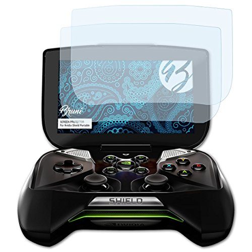 Bruni Schutzfolie kompatibel mit Nvidia Shield Portable Folie, glasklare Displayschutzfolie (2X)