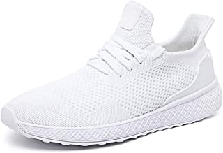 lswau Autumn Men White Shoes Light Running Sports Shoes Breathable Cushion Casual Walking Mesh Shoes Fashion Athletic Shoes