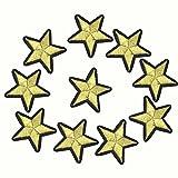 Jingyuu - Lote de 10 parches termoadhesivos bordados con diseño de pavo rosa y flor del ciruelo para coser, bordados, para decoración y ropa, camisetas de marea apliques (Pentagrama)