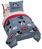 Jay Franco Disney Mickey Mouse Patches 7 Piece Full Bed Set - Includes Comforter & Sheet Set Bedding - Super Soft Fade Resistant Microfiber - (Official Disney Product)