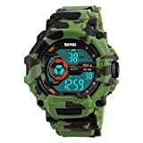 SKMEI Boys Watches Digital Sports Wristwatches Outdoor Military Style with Alarm LED Waterproof...