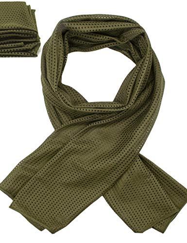 Outdoor Saxx® Halsdoek, multifunctionele doek, hoofddoek, sjaal, hoofdband, voor camouflage, bescherming tegen kou, bescherming tegen insecten voor outdoor, jacht, vissen, military, meshweefsel, olijfgroen
