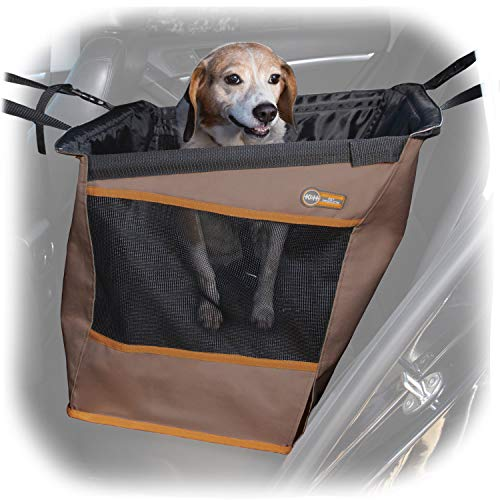 K&H PET PRODUCTS Buckle N' Go Car Seat for Pets Tan Small 21 X 13 X 19 Inches