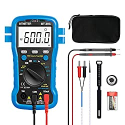 Multimeter, BT-39C BTMETER Auto Range Digital Avometer Universal Meter 6000 Counts With New Substitutable Fixed Mode, NCV, Diode, AC & DC Voltage, AC & DC Current, Resistance, Capacitance, Frequency
