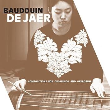 Baudouin de Jaer: Compositions for Geomungo and Gayageum