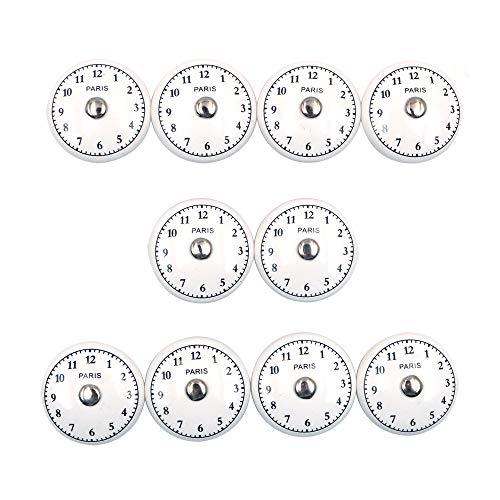 Namvo The Time - Juego de 10 pomos de cerámica para puerta de armario, estilo vintage, estilo shabby chic, con números arábigos