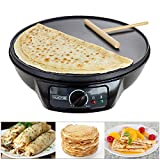 "Voche® 1000W Electric Pancake & Crepe Maker with 12"" Non Stick Hot Plate"