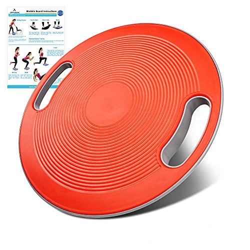 arteesol Balance Board Physiotherapie Erwachsene, Wackelbrett Therapiekreisel Ø 40cm mit Griffen, Geeignet für Training von Gleichgewicht, Koordination und Rehabilitation