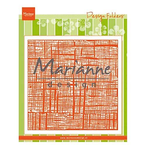 Marianne Design DF3453 Linnen Prägefolder, Leinen, für Papierbasteln, plastik, Opak, M