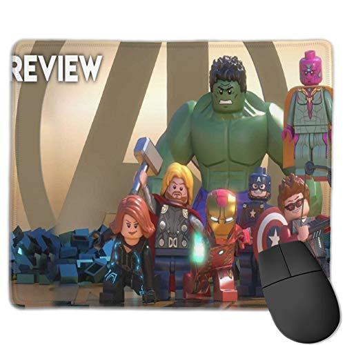 Marvel Super Heroes - Tappetino per mouse per computer portatile, lavabile, 25 x 30 cm