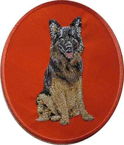 Little Chop Deutscher Schäferhund German Shepherd hochwertig gestickt Patch Sticker Applikation Aufbügler 038