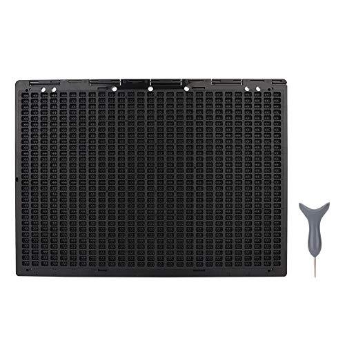 JULYKAI Braille Slate Stylus Kit, portátil 27 líneas 30 Celdas Braille Writing Slate y Stylus Braille Herramienta de Aprendizaje Accesorio Papel Braille para Pizarra o Brailler 🔥