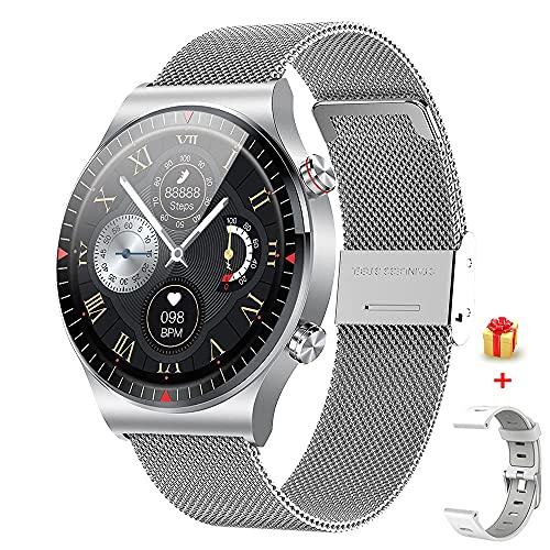 GaWear Smartwatch Fitness Smart Watch IP67 a Prueba de Agua, 4 GB de Memoria Interna de música para Deportes, 8 Modos de Entrenamiento, podómetro, Monitor de sueño, Hombres, Mujeres (Plata)