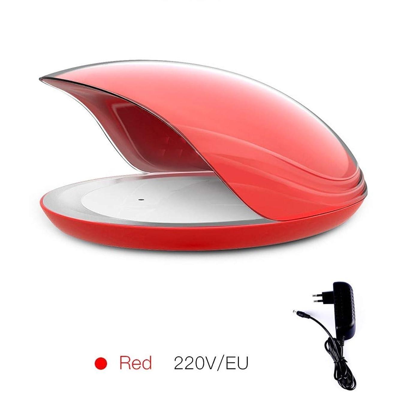 国民倉庫じゃないルーシー?デイ メモリーネイルネイルポリッシュプラスチックドライヤーランプのツールインテリジェント80WネイルUVライトセンシングタイミング (色 : Red flat plug)
