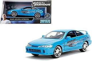 Jada 1: 24 W/B - Metals - Fast & Furious - Mia's Acura Integra (Blue) 30739