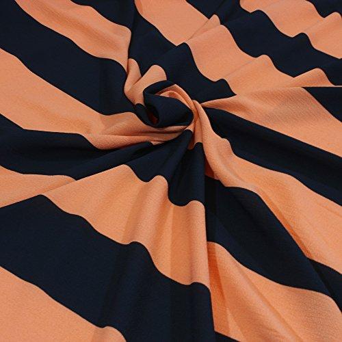 kawenSTOFFE Schwarz Terracotta Blusenstoff Chiffon Borkenkrepp Sommerkleidchen Tunika Top sommerlich leicht weichfallend Meterpreis Stoff