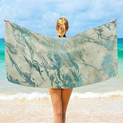 Toalla De Playa Microfibra,Mármol Azul Blanco Altamente Absorbente Compacto Ligero Y De Secado Rápido Toalla De Playa/Deportivas para Viajes,Gimnasio,Acampar,Nadar,Yoga,Natación,Baño,Vacaciones
