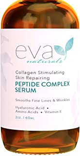 Best Peptide Complex Serum by Eva Naturals (2 oz) - Best Anti-Aging Face Serum Reduces Wrinkles and Boosts Collagen - Heals and Repairs Skin while Improving Tone and Texture - Hyaluronic Acid & Vitamin E Review