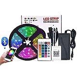 YMXLJJ Smart WiFi APP-gesteuerte RGB-Farbwechsel-Musiksynchronisationslichtstreifen, LED-Streifenlichter, Stimmungslicht mit Bluetooth-Controller, LED-Bandlicht für TV-Party im Schlafzimmer,A24 7