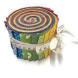 RosaliNum Jelly Roll Regenbogen - die Jelly Roll beinhaltet