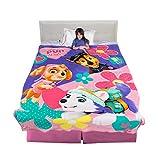 Franco Kids Bedding Super Soft Micro Raschel Blanket, Twin/Full Size 62' x 90', Paw Patrol Girls