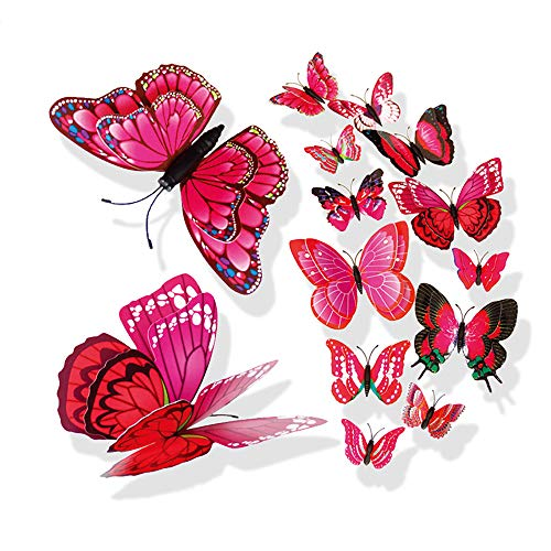 Wociaosmd Butterfly Sticker, 3D DIY Pin Type Home Decor Butterfly Curtain Dress Decorate Accessory...