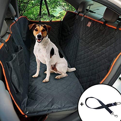 HelpAccess Hunde Autoschondecke Wasserdicht, Kratzfest, Rutschfest, aus hochwertigem Material 600D Oxford, Hundedecke mit Haustier-Sicherheitsgurt und Seitenschutz, Extra-Groß 147x137cm.