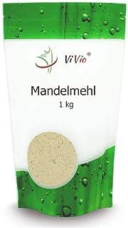 Mandelmehl 1000g VIVIO - Almond flour - Naturbelassen - Blanchiert - Vegan - 1er Pack 1 x 1000g - Premium Qualität - Mandeln gemahlen - Low carb mehl