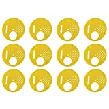 Walfront 12pcs Disque 4 Positions en Plastique 6.8cm pour Apiculteur Apiculture Nucléi