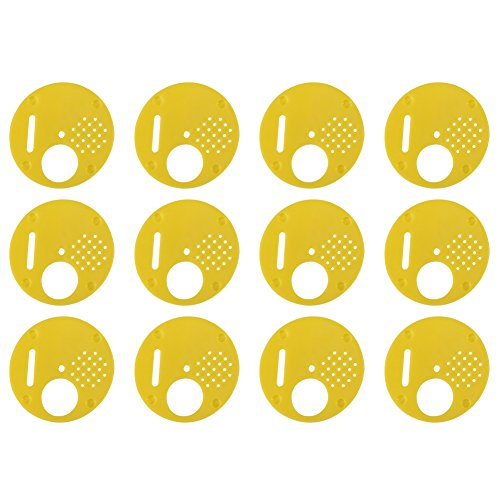 Walfront Bee Hive, 12Pcs Plastik Bienenstock Nuc Box Tor Bienen Nest Tür Eingang Disc Bienenzucht Werkzeug