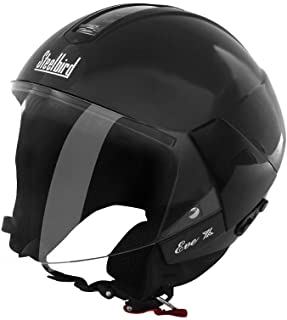 Steelbird SB-33 Eve Dashing Women Helmet Black with plain visor,580 mm (Medium)