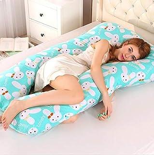 SSJIA Almohada de Lactancia Almohada de Embarazo Dormir de Lado Mujeres Embarazadas Ropa de Cama Cuerpo Completo Cojín en Forma de U Almohadas de Maternidad multifuncionales para Dormir, 1