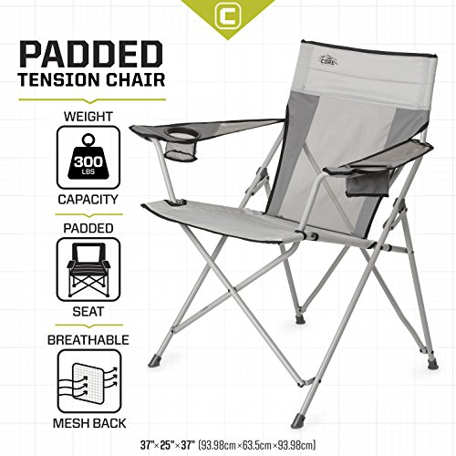 Core Equipment Tension Chair with Carry Bag, Gray
