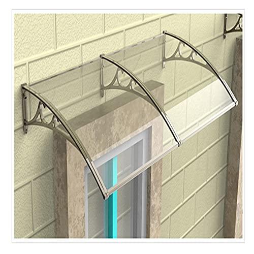 XIAOYAN Vordach Türdach Für Draußen Rundbogenvordach Überdachung Polycarbonat, Regenschutzabdeckung, Markisenfenster, Diverse Größen- Diverse Farbe
