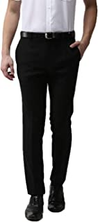 American-Elm Black Formal Trouser for Men Slim Fit Black Office Pants for Daily Office
