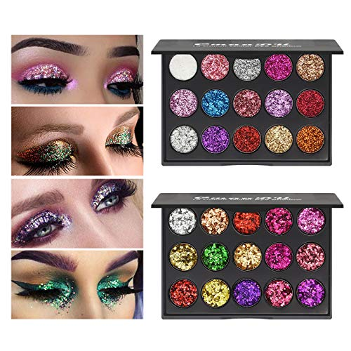 Ownest 30 Colors Glitter Eyeshadow …