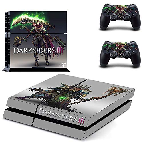 TSWEET Ps4 Skin Sticker for Playstation 4 Console and 2 Controllers Ps4 Skin Sticker Vinyl Decal - Darksiders 3