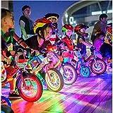 Paquete de 2 Luces LED para Niños con Equilibrio para Llantas de Bicicleta, Luces para Ruedas de Bicicleta, Luces de Bicicleta Coloridas RGB Impermeables, Regalo para Niños y Niñas de 2 a 12 Años