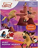 Mattel Spirit Hoppin' Horses Kids Game Horse Launcher Game With Mountain Tower, Mini Horse Playing Pieces For 2 3 Or 4 Players 5 Years Old & Up