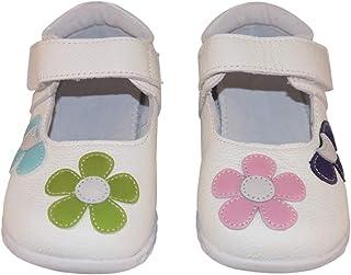 SandQ baby Girls White Leather Shoe