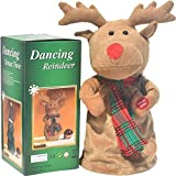 FASESH Christmas Plush Toy - Singing and Dancing, Christmas Tree, Snowman, Elk Story Characters Animated Snowman Plush, Christmas Plush Talking Toys, Christmas Decorations, Stuffed Animals, (C)